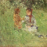Woman and Child in the Garden at Bougival