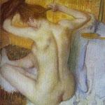 Donna che si pettina - 1885/86 - Pastello su cartone