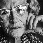 Portrait de la cuisinière d'un snack-bar de Shoshone, près de la vallée de la Mort, 1977