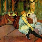En la sala de la Rue des Moulins, 1894