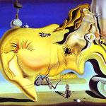 Il grande masturbatore - 1929 - Olio su tela