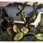 Renato Guttuso - Cactus sul golfo di Palermo, 1978