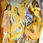 Les Demoiselles d'Avignon - 1907 - Olio