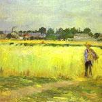 Nei campi di grano a Gennevilliers - 1875 - Olio su tela