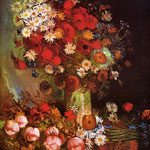 Vase with Poppies, Cornflowers, Peonies and Chrysanthemums, 1886