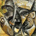 Dinamismo della testa di un uomo 1913