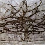 Piet Mondrian - L'albero grigio - 1912 - Olio su tela