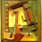 Frutto di una lunga esperienza - 1919 - Legno dipinto in rilievo