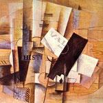 Georges Braque - La tavola del musicista (1913)