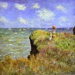 Claude Monet - Camminare a Pourville - 1882 - Olio su tela