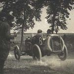 Boillot conduisant une Peugeot, Grand Prix ACF, 12 juillet 1913