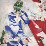 Il poeta, o tre e mezzo - 1911/1912 - Olio su tela