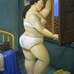 Fernando Botero - Donna alla finestra (2004)