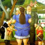 Fernando Botero - Famiglia e domestica (1996)