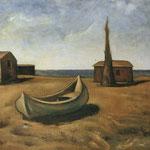 Carlo Carrà - Autunno al mare (1927)