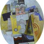 Strumenti musicali - 1912 - Olio, segatura e gesso su cartone