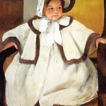Ellen Mary Cassatt in a White Coat, 1896