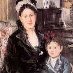 Portrait of Mme. Boursier and her Daughter, 1874