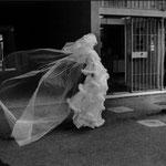 Photo prise lors du reportage sur le thème des mariages entre Bretons et Italiens, novembre 1975.