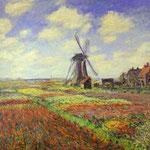 Claude Monet - Campi di tulipani in Olanda - 1886 - Olio su tela