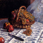 Still Life, Apples And Grapes, 1876
