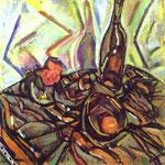 Natura morta con rose - Nel 1916 - Olio su cartone