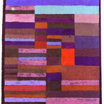 Individualized Altimetry of Stripes. 1930. Pastel fixed with flour paste. 18  x 25 . Paul Klee Foundation, Kunstmuseum, Berne, Switzerland.