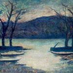 Carlo Carrà - Inverno sul lago