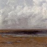Spiaggia a Trouville in bassa marea - 1865
