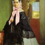 Ritratto di Margherita De Gas, sorella dell'artista - 1858/1860 - Olio su tela