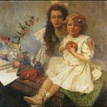 Le figlie dell'artista 1919