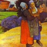 Due donne Breton sulla strada - 1894 - Olio su tela