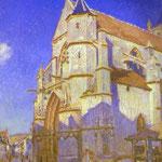 La chiesa di Moret - 1894 - Olio su tela
