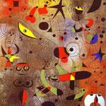 Risveglio all'alba - 1941 - Guazzo, trementina e vernice su carta