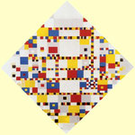 Piet Mondrian - Victory Boogie-Woogie - 1943/1944 - Olio e carta su tela