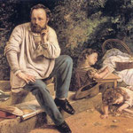 Ritratto di P J Proudhon - 1853