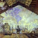 Claude Monet - Stazione a Saint Lazare, Parigi - 1877 - Olio su tela