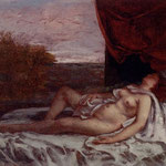 Femmina nuda mentre dorme