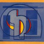 Comp. S.P.I.R.A.N., 1980, olio su tela, cm 34x37.