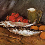 Still Life with Mackerels, Lemons and Tomatoes, 1886