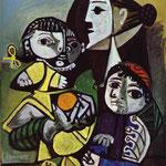 Françoise, Claude e Paloma - 1951 - Olio su compensato