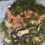 Amanti nel Lilla - 1930 - Olio su tela