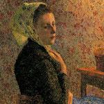 Mujer con Panuelo Verde