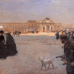 The Place de Carrousel and the Ruins of the Tuileries Palace in 1882
