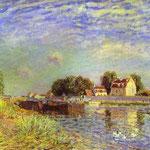 Il Canale di Loing a Mammès St. - 1885 - Olio su tela