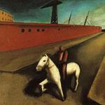 Cavallo bianco e molo 1920
