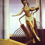 La donna ambigua (noto anche come La donna in bilico) - 1923 - Olio su tela