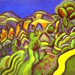 Ciurana, il Sentiero - 1917 - Olio su tela