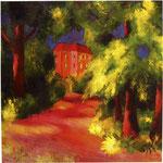 La casa rossa nel parco