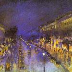 Il Boulevard Montmartre di notte - 1897 - Olio su tela
